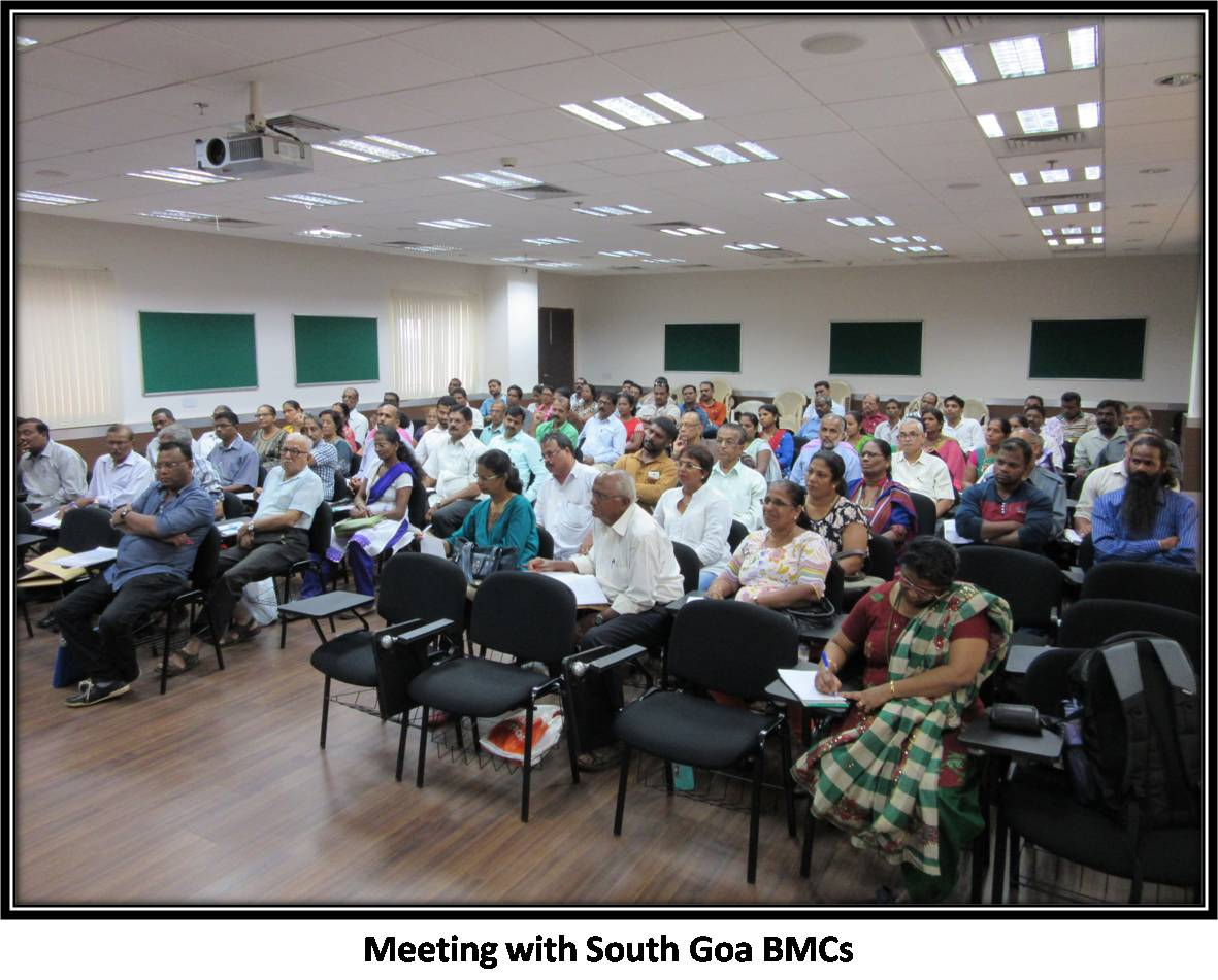 Meeting with South Goa BMCs