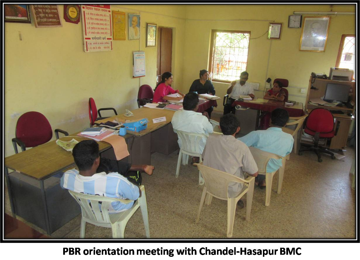 PBR orientation meeting with Chandel-Hasapur BMC