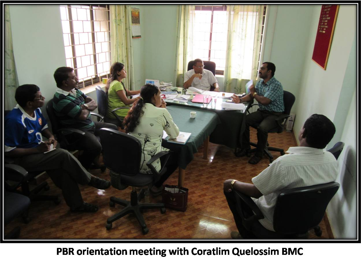 PBR orientation meeting with Coratlim Quelossim BMC
