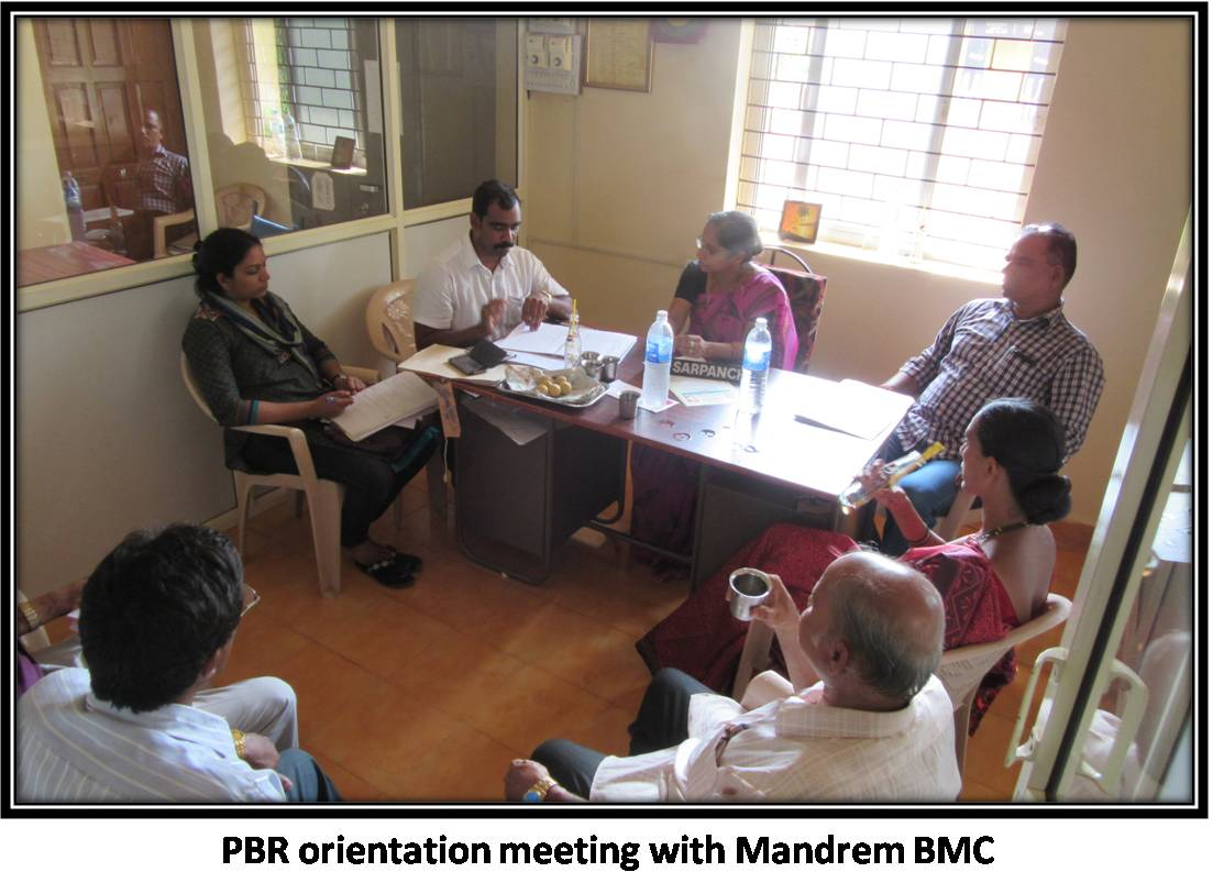 PBR orientation meeting with Mandrem BMC