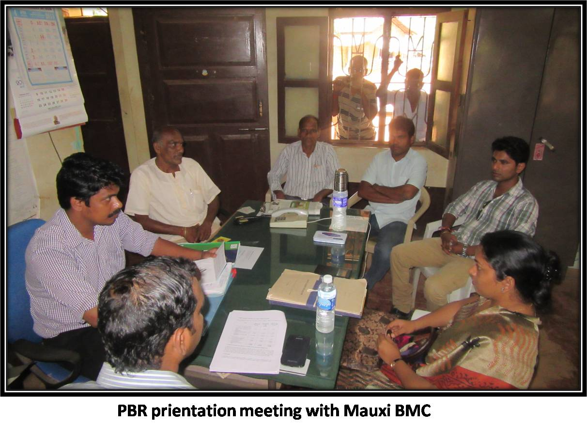 PBR prientation meeting with Mauxi BMC