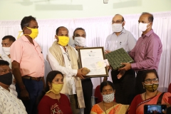 Shristhal BMC Chairperson and other members receiving Goa Biodiversity Awards -2020 (BMC Category) North Goa, on behalf of Shristhal BMC