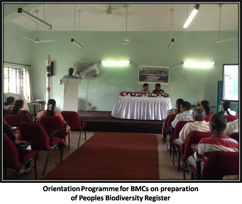 Orientation Programme for BMCs on preparation of Peoples Biodiversity Register