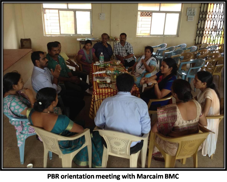 PBR orientation meeting with Marcaim BMC