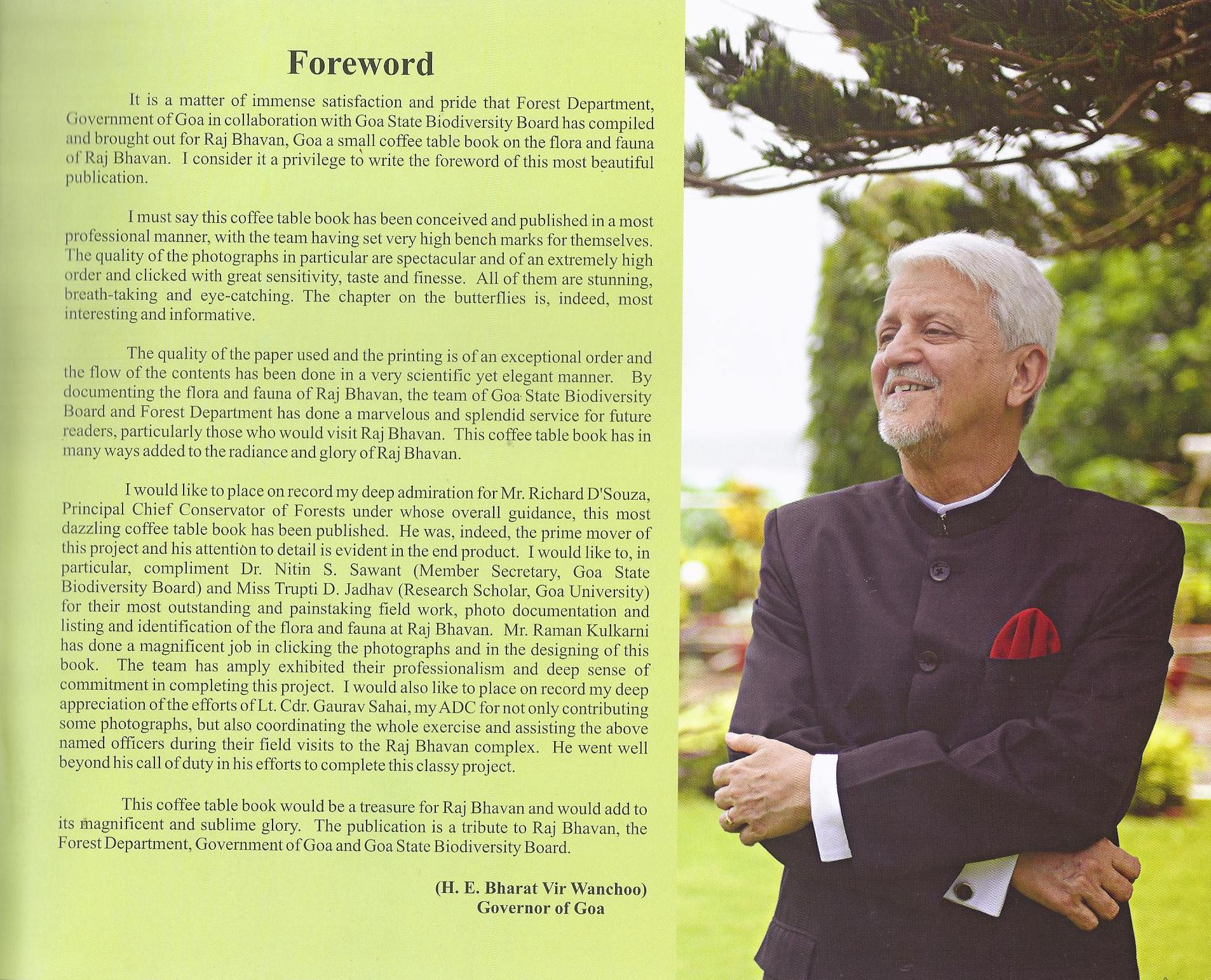 Rajbhavan book foreword